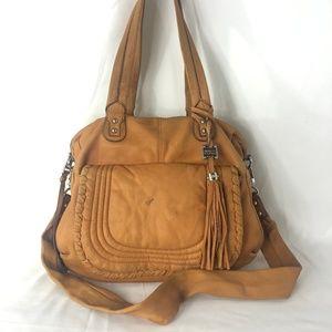 AIMEE KESTENBERG Brown Suede Shoulder Bag